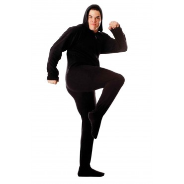'Black Adult Footed onesie Pajamas ** SUPER SALE ITEM **
