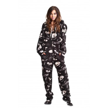 'Black DeadMau5 Adult onesie Footed Pajamas **SUPER SALE ITEM **