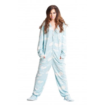 'DeadMau5 Blue Adult Footed onesie Pajamas ** SUPER SALE ITEM **