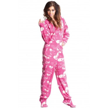 Pink DeadMau5 Hooded Adult onesie Pajamas