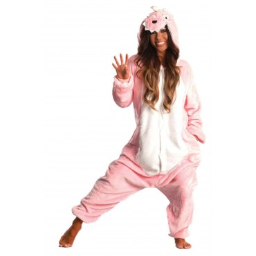 Pink Dragon Adult Kigurumi Costume onesie