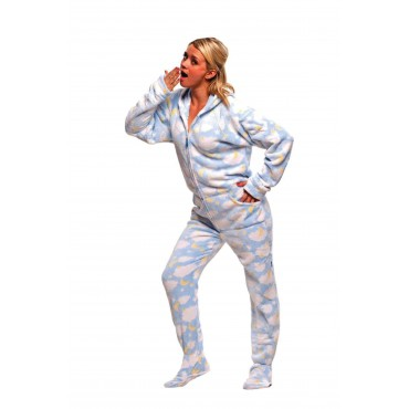 Sleepy Stars Hooded Adult Pajamas