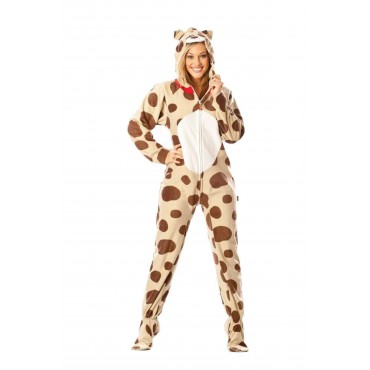 Doggie Adult Footed Costume onesie