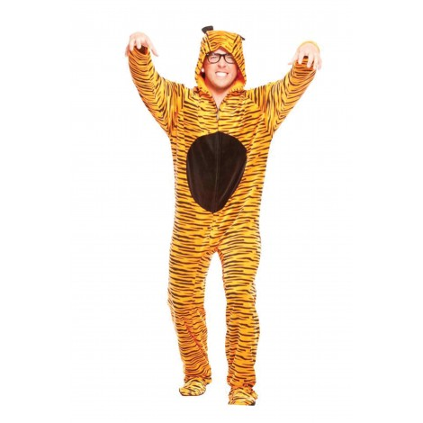 Tiger Adult Footed Costume