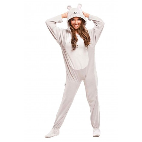 Grey Mouse Adult Footed Costume onesie