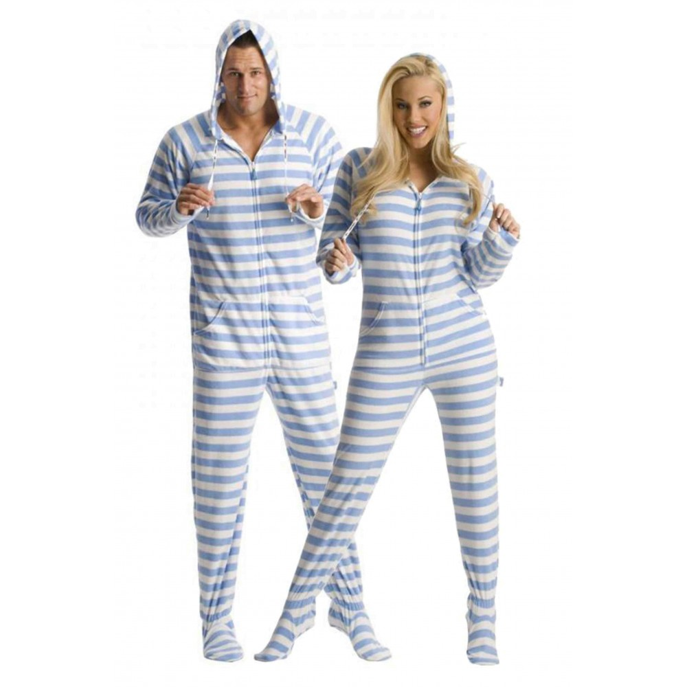 'Blue Steel Adult Footed onesie Pajamas ** SUPER SALE ITEM **