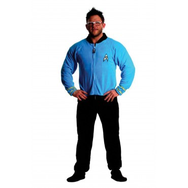 Star Trek Sciences Blue Footed Adult onesie Pajamas