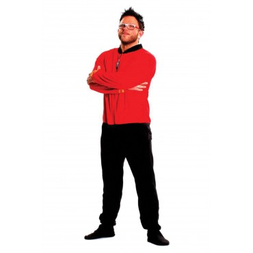 Star Trek Engineering Red onesie Footed Pajamas
