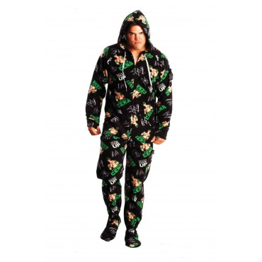 'WWE John Cena Footed Pajamas onesie - Adult ** SUPER SALE ITEM **