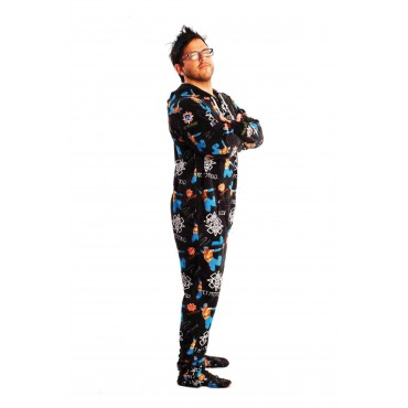 'WWE Rey Mysterio Adult Footed Pajamas ** SUPER SALE ITEM **