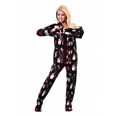 'KISS Do You Love Me Hooded Adult onesie Pajamas **  SUPER SALE ITEM **
