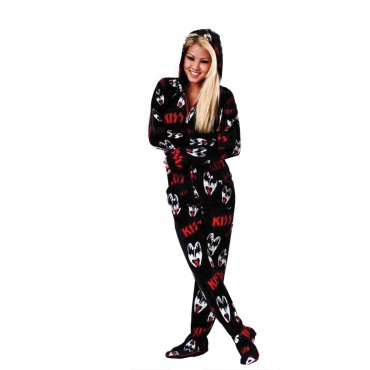 KISS Dr. Love Hooded Adult onesie Pajamas