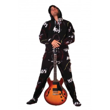 KISS Rock Gods Hooded Adult onesie Pajamas