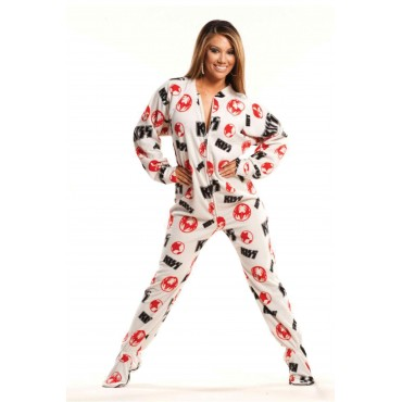 KISS Strutter White Classic Adult onesie Pajamas
