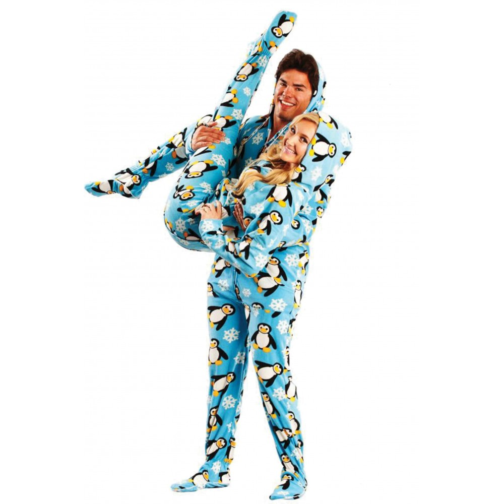 Penguins Adult Footed onesie Pajamas