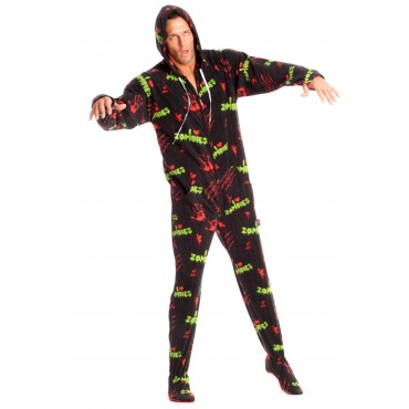 'Zombies Adult Footed onesie Pajamas ** SUPER SALE ITEM **