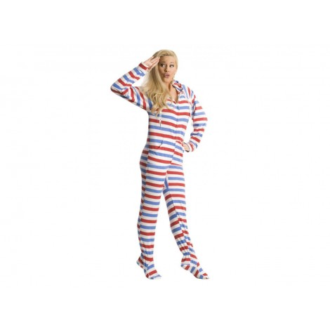 'Americana Adult Footed onesie Pajamas  **SUPER SALE ITEM **
